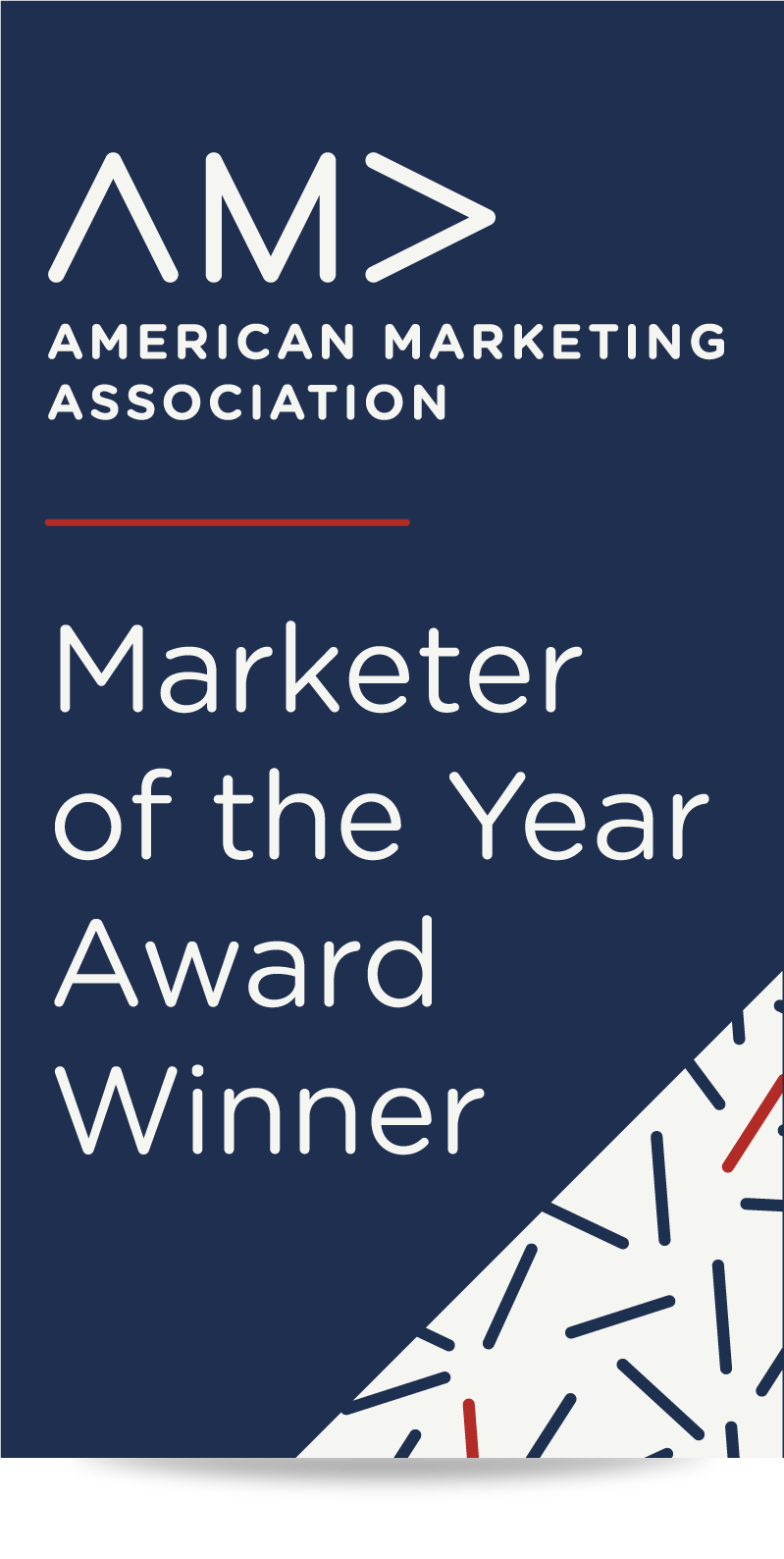 Dallas-Fort Worth American Marketing Association Marketer of the Year Award Winner Badge