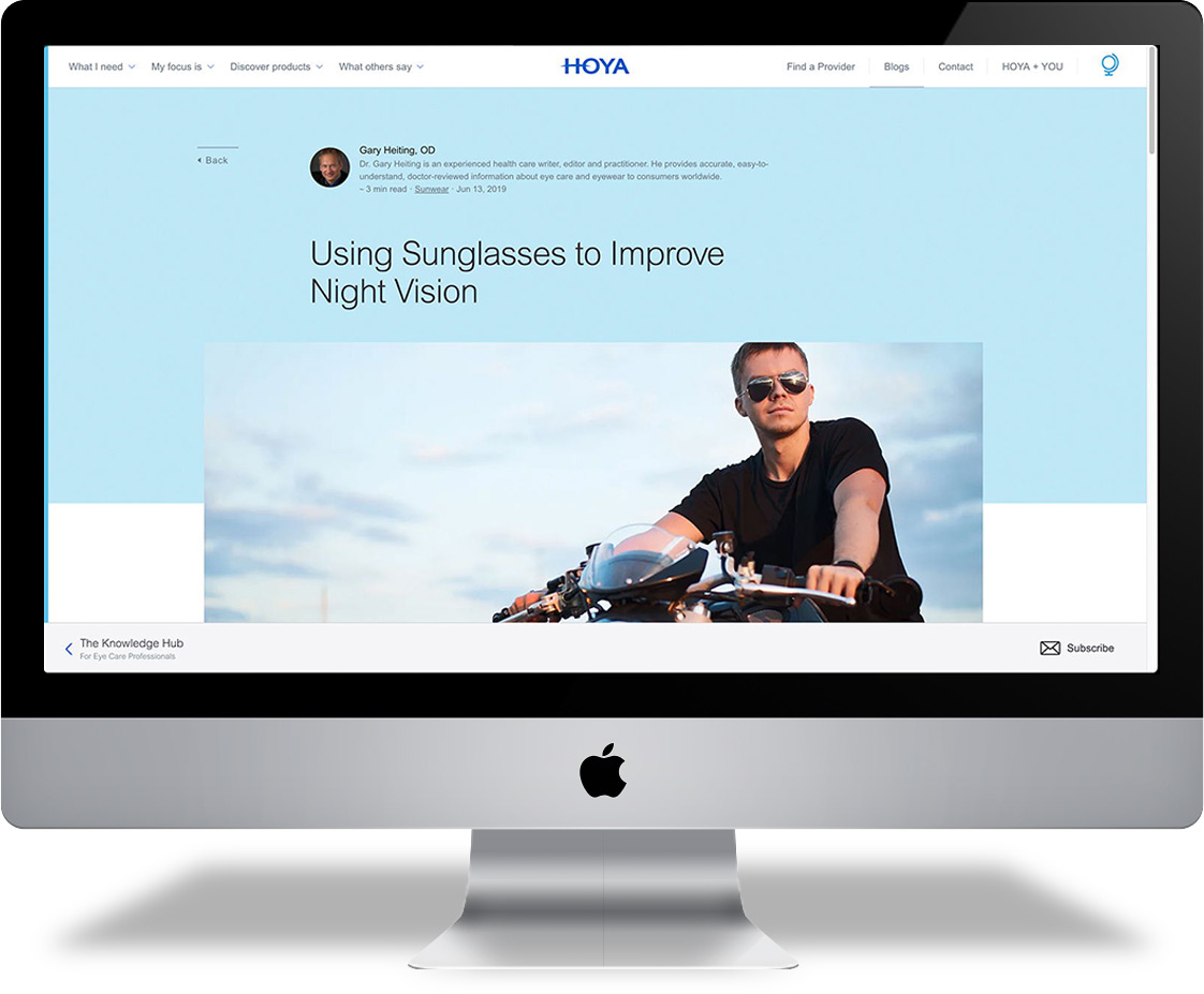 Hoya-homepage