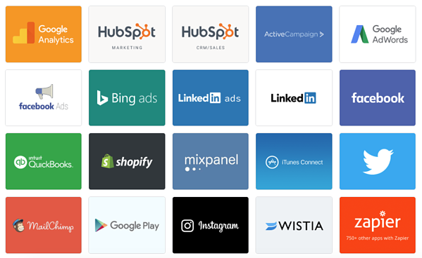 databox data visualization data sources