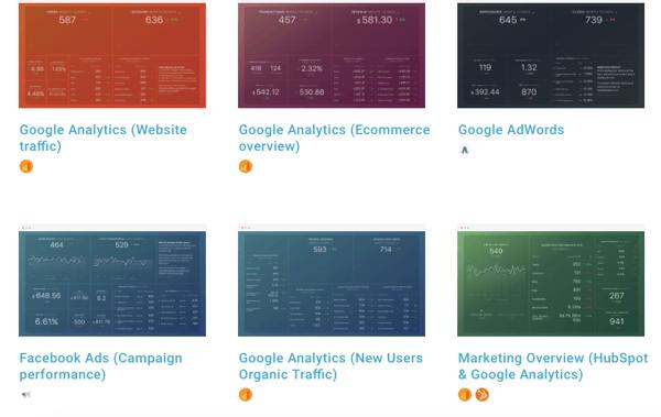 databox data visualization templates